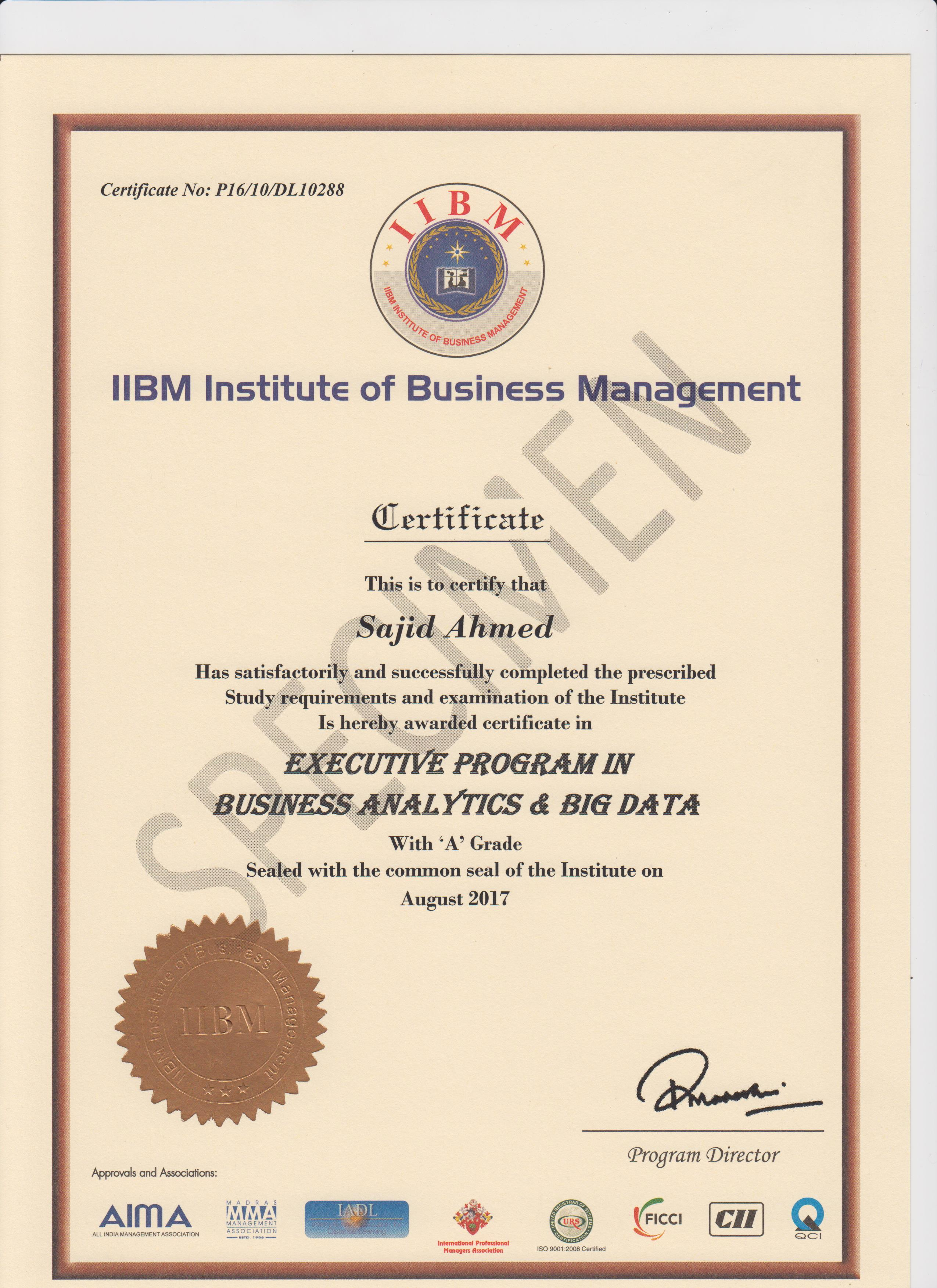 Iibm six sigma certification courses best six sigma courses executive program in business analytics and big data xflitez Images